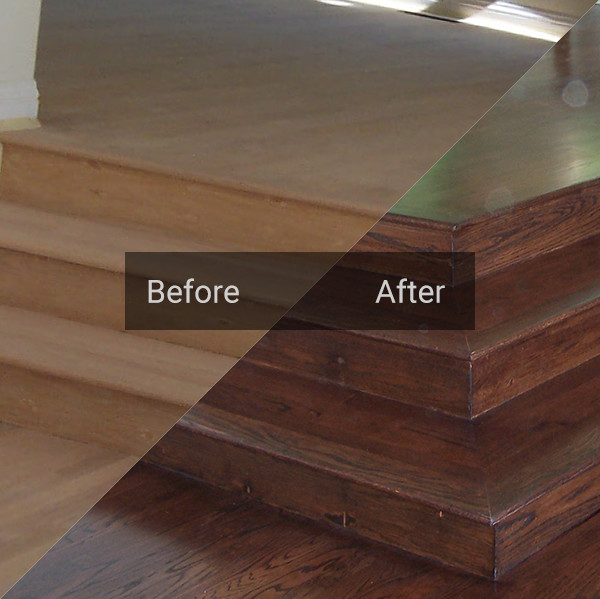 Dustless wood floor refinish