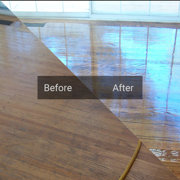 Dustless wood floor sanding